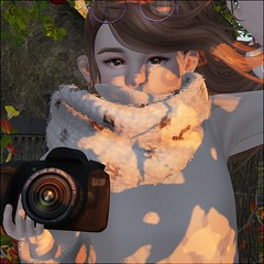 Snap (daisypea) Tags: daisy crowley teen second life secondlife avatars child childhood pre snap photo autumn fall doe eyed moremore okbye lotus c88 grow grown up aged teenage family camera bearitto outdoors outside yard apple tree