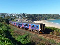150265 & 150104 Carbis Bay (4) (Marky7890) Tags: gwr 150104 150265 class150 sprinter 2a24 carbisbay stivesbayline railway cornwall train