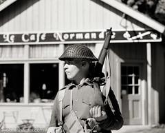 Soldier (johnlishamer.com) Tags: 120 180mmsekorcf45 2017 6x7 bw fujiacros100 lishamer mamiyarb67prosd midwayvillagemuseum reenactment reenactors rockfordil wwiidays worldwariidays film johnlishamercom mediumformat sunshine