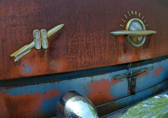 Rocket 88 (David Sebben) Tags: rocket88 oldsmobile badges rust patina iowa