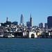 San Francisco skyline from the bay near Fisherman's Wharf