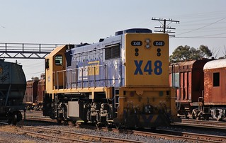 X48 stabled in Dimboola waiting for the next job