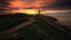 (Ramón M. Covelo) Tags: santander cantabria spain faro lighthouse cabo mayor coast coastline horizontal panoramic landscape outdoors nobody long exposure sunset atardecer slow shutter speed larga exposición