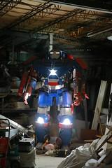 Iron Man? (superzookeeper) Tags: formosa 5dmk4 5dmkiv canoneos5dmarkiv ef2470mmf28liiusm eos digital taiwan tw taichung night street robot garage ironman