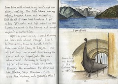 Norway (Hornbeam Arts) Tags: viking shiposeberg gokstad sognefjord sketch watercolour ink