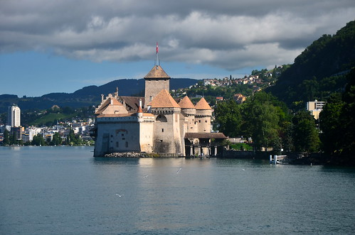 Lake Geneva and Château de Chillon