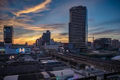 (Flutechill) Tags: cityscape urbanskyline night bangkok architecture urbanscene dusk sunset skyscraper city downtowndistrict famousplace buildingexterior builtstructure asia tower sky thailand business street siam siamsquare siampiwat goldenhour sunshine