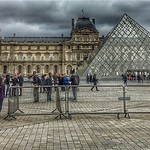 Louvre  - Paris - France  ~   I.M. Pei's glass pyramid in 1989 ~ Courtyard thumbnail