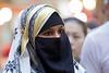Niqab on a Hot Humid Day (l plater) Tags: niqab bowringtonroadmarket wanchai hongkong