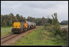 DBC 6455 - 62022 (Spoorpunt.nl) Tags: 27 september 2017 dbc db cargo aanvoer trein 62022 dordrecht industrie dupont chemours vtg ketel wagen type zacs fluorwaterstofzuur un 1790 6455 geel grijs stamlijn