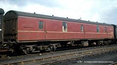 c.1969 - Bath, Somerset. (53A Models) Tags: britishrail mk1 guv m86424 parcelsvan nl newspapervan npcs bath somerset train railway locomotive railroad