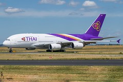 Thai Airways / Airbus A380 / LFPG-CDG taxiing / © (RVA Aviation Photography (Robin Van Acker)) Tags: planes trafic airlines avgeek airliner outdoor airplane aircraft vehicle jetliner jet jumbo air photography aviation aviationphotography charlesdegaulle paris