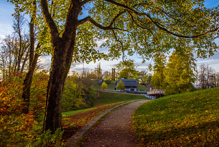 Gurten Autumn's Twilight time. Canton of Bern . Switzerland. No. 117.