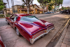 1973 buick riviera (pixel fixel) Tags: 1973 airbrush buick diadelosmuertos pinstripes red riviera taillights uptown whittier