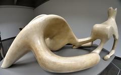 'Reclining Figure', Henry Moore, plaster and string, 1951 - Art Gallery of Ontario, Toronto (edk7) Tags: nikond300 bowerae8mm135fisheyecsfisheyelens edk7 2013 canada ontario toronto stpatrick artgalleryofontario ago henrymooresculpturecentre museum sculpture fisheye recliningfigurehenrymooreplasterandstring1951