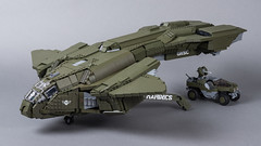"D77H-TCI Pelican (from ""Halo 3"") (Velocites) Tags: halo 3 pelican d77htci unsc video games moc lego 343 bungie xbox"