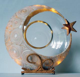 Goodnight Sweetheart Crescent Moon Centerpiece
