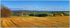 Oktober panorama fra Gjerdrum (Krogen) Tags: norge norway norwegen akershus romerike gjerdrum landscape landskap høst autumn krogen olympuse400 imagecompositeeditor panorama