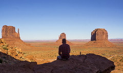 Enjoying the view of Monument Valley (RigieNL) Tags: sony arizona monumentvalley view panorama west usa america nature landscape sonya6000