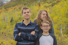 Family Picture Season (aaronrhawkins) Tags: family portrait kids children boy girl fall trees colors seasons autumn sundance resort utah alpine loop yellow foliage handsome jackson jessica joshua aaronhawkins