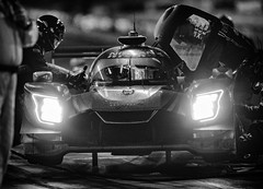 Brendon Hartley's final stop at the Petit (speedcenter2001) Tags: 2 nissandpi p scottsharp ryandalziel brendonhartley nissan nismo race endurance sportscar racing roadcourse roadracing night pit pitlane pitstop refueling monochrome blackandwhite noiretblanc nikon400mmf28gvr 400mmf28gvr d810 headlights prototype sep2 silverefexpro2 road atlanta roadatlanta braselton georgia imsa tequila patron esm