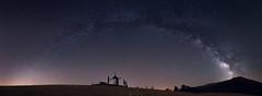 sense of grandeur (Javy Nájera) Tags: 11imagenesverticales españa larioja ocón campo estrellas luz molino noche nocturna panorámica víaláctea field light mill night panorama milkyway