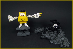 Come in! Come all! (Karf Oohlu) Tags: lego moc fantasy horror figure silly chains tentacles smiley