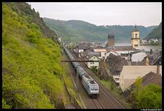 Ecco Rail 186 143, St. Goarshausen 21-04-2017 (Henk Zwoferink) Tags: sanktgoarshausen rheinlandpfalz duitsland de henk zwoferink rhein am traxx bombardier ecco rail 186 143