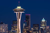 Seattle Skyline (llabe) Tags: cityscape kerrypark bluehour nightlights night buildings architecture skyline spaceneedle seattlecenter seattle washington nikon d750