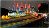 A Moment in Time (Welsh Gold) Tags: view ebury bridge london victoria railway battersea power station night lights sw1