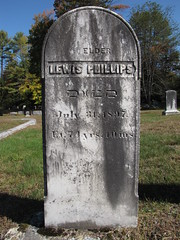 Lewis Phillips (Steve Dow) Tags: elkins cemetery newlondon nh newhampshire civilwar american veteran grave gravestone