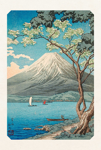 18-Carte postale // 10x15cm // Lac Yamanaka