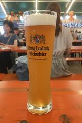 long tall beer (kasa51) Tags: beer königludwig weissbier oktoberfest yokohama japan オクトーバーフェスト横浜 ケーニッヒ・ルードヴィッヒ ヴァイス iphoneography