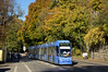 Herbst pur am Nockherberg: R3-Wagen 2207 der Sonderlinie U2/U602 auf der Fahrt zum Wettersteinplatz zwischen den Haltestellen Mariahilfplatz und Ostfriedhof (Bild: Andy Paula) (Frederik Buchleitner) Tags: 2207 ersatztram linieu2 linieu602 munich münchen nockherberg r3wagen sev schienenersatzverkehr strasenbahn streetcar tram trambahn ubahn