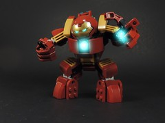 Hulkbuster (MrKjito) Tags: lego super hero age ultron marvel avengers iron man tony stark hulkbuster arc reactor repulsor glow eyes infinity war armor hulk
