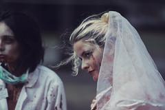 Let's get married (Adam R.T.) Tags: zombie apocalypse zombiewalk portrait blood makeup wedding contrast decay spooky girl woman blurry insane fun fantastic wound creepy