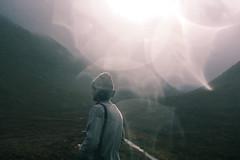 (iannuccisarah) Tags: isle skye scotland island uk northern north autumn tour bokeh man cold hat silhouette glen coe highlands