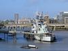 HMS Belfast! (RiverCrouchWalker) Tags: london hmsbelfast riverthames bridge buildings cranes flags historicwarship imperialwarmuseum uk greatbritain england