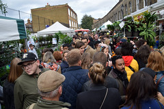DSC_8292 London Columbia Road Flower Market The Crowd Not many English Accents! (photographer695) Tags: london columbia road flower market the crowd not many english accents