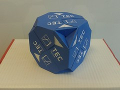Truncated cube (ISO_rigami) Tags: origami modular a4 sonobe rectangular cube polyhedron 3d