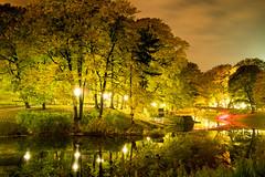 Autumn colours at night (MarxschisM) Tags: riga latvia autumn night colours park river xt1 samyang21