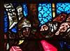 ca. 1360-1365 - 'Crucifixion, scenes from the Passion of Christ', Collégiale Saint-Florent, Niederhaslach, dép. Bas-Rhin, France (RO EL (Roel Renmans)) Tags: 1360 1365 window stained glass verrière glasgemälde fenster vitrail vitral glasinlood scenes niederhaslach bas rhin france german collégiale saint st florent florentius church kirche église iglesia armor armour 14th century christ vitraux jesus jeanbaptiste glasmalerei mail kettenhemd cotte de mailles hauberk studded gauntlet bascinet beckenhaube poleyn greave scales fingers gauntlets camail aventail vervelles alsace elsass