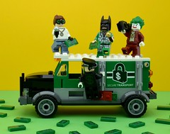 💵All you see is dollar signs💵 (Alex THELEGOFAN) Tags: lego legography minifigure minifigures minifig minifigurine minifigs minifigurines dollar bill signs batman movie the joker robin alfred truck green money suit tuxedo rap microphone