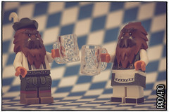 Octoberfest! (Priovit70) Tags: lego minifigures bigfoots themcfoots beer mugs macro olympuspenepl7
