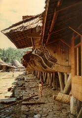 Orahili, Nias, 1980 (Elios Amati) Tags: eliosamati indonesia sumatra nias traditionalhouse