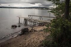 Summers end (BlossomField) Tags: footbridge lake water jönköping schweden swe