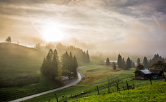 Foggy Sunrise (Hegglin Dani) Tags: overtheexcellence zug zugerberg sun sunrise fog nature natur nebel schweiz switzerland sonnenaufgang