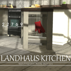 22769 - Landhaus Kitchen for The Gacha Garden : November 2017 (manuel ormidale) Tags: pacopooley kitchen landhaus landhausstyle interior decoration coffeemachine meat electrickettle dishcloth mugboard kitchenparts wood whitewood cabinet 22769 bauwerk 22769~bauwerk gacha thegachagarden scale kitchenmachine fridge