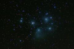 Seven Sisters (Pleiades, M45) (pablo_blake) Tags: astrometrydotnet:id=nova2296079 astrometrydotnet:status=solved m45 pleiades sevensisters opencluster astro ioptronskytracker d5500 subarulogo