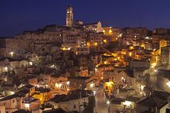 La città scolpita / The carved city (Matera, Basilicata, Italy) (AndreaPucci) Tags: sassi matera basilicata night italy italia unesco andreapucci